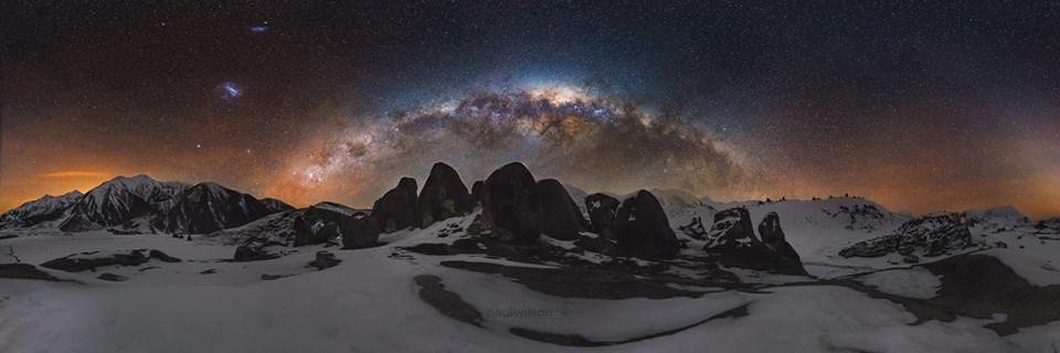 The Milky Way over Castle Hill, New Zealand