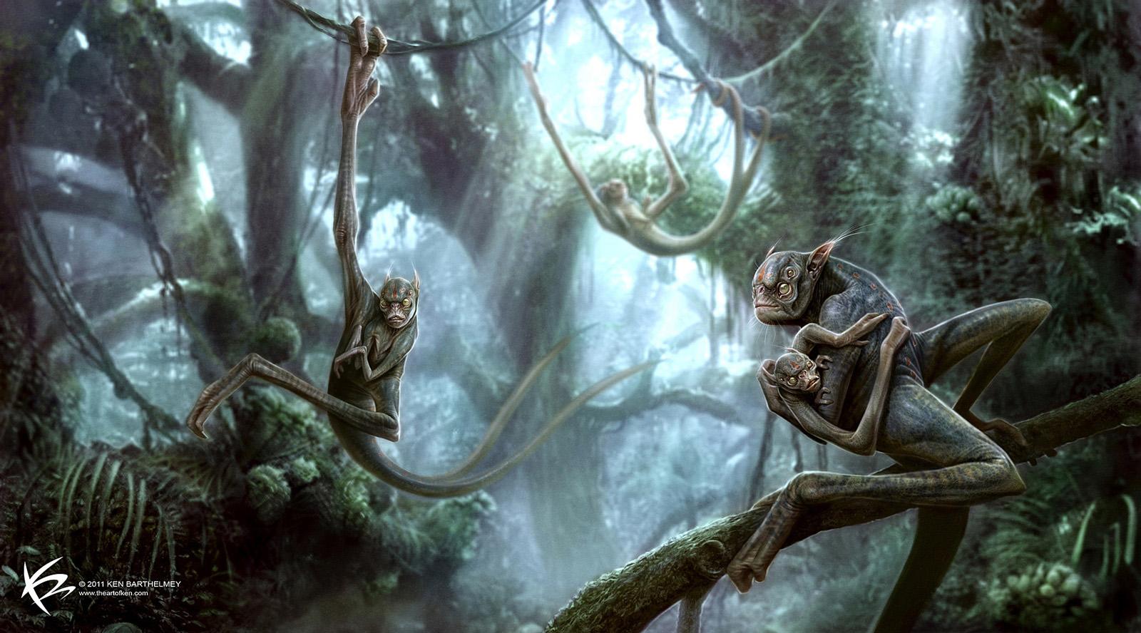 Concept Art Ken Barthelmey alien apes