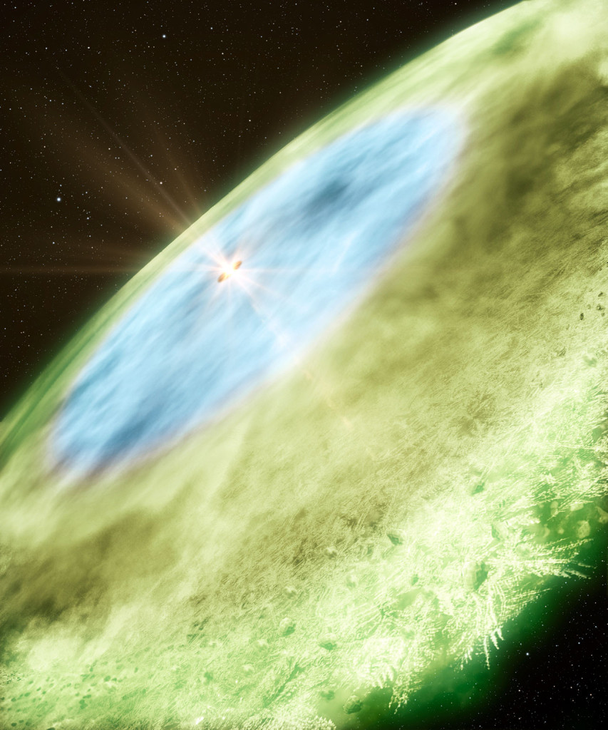 Artist's impression of snow lines around TW Hydrae