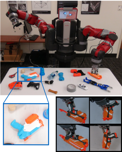 Baxter gripping objects (pic from MIT Tech Review)