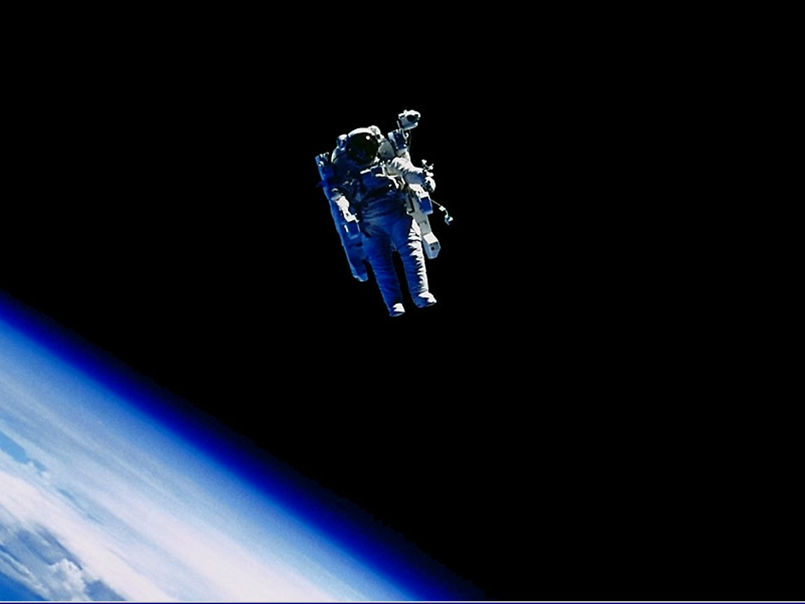Image of the first ever space walk. Credit: NASA/ESA
