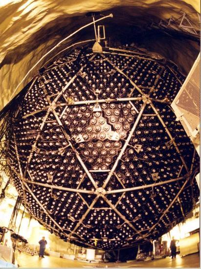 The neutrino detector at Sudbury National Observatory. Image credit SNO.