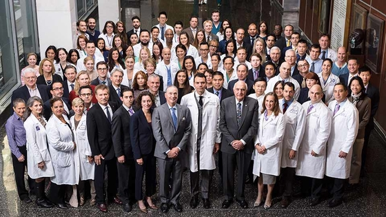 The team at NYU Langone Medical Center who performed the surgery.