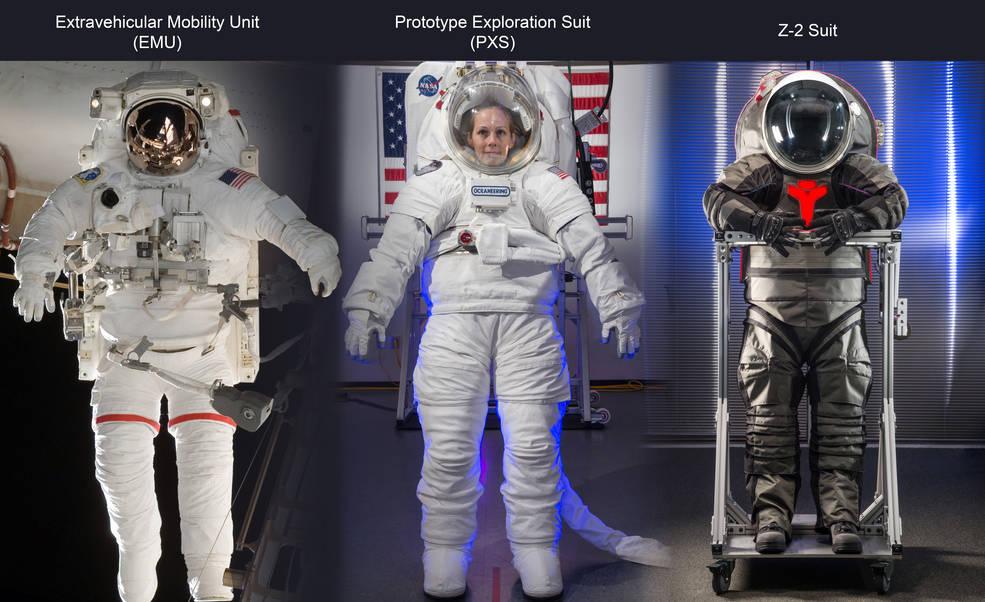 New spacesuits. Image credit NASA