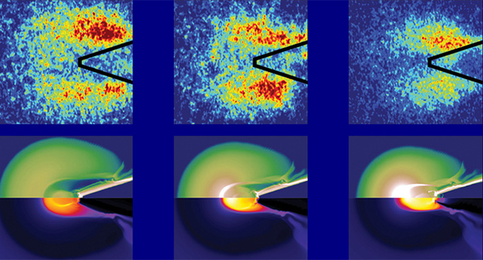 Image of energy flow and distribution in a nuclear fusion fuel pellet, achieved through copper tracers and X-ray imaging. Credit: High Energy Density Physics Group, UC San Diego.