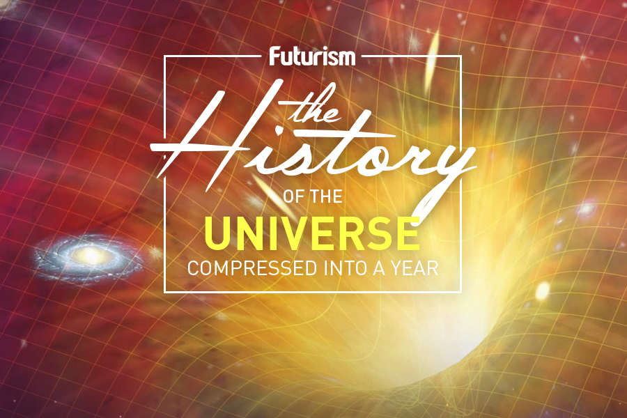 The History of the Universe Compressed into One Year