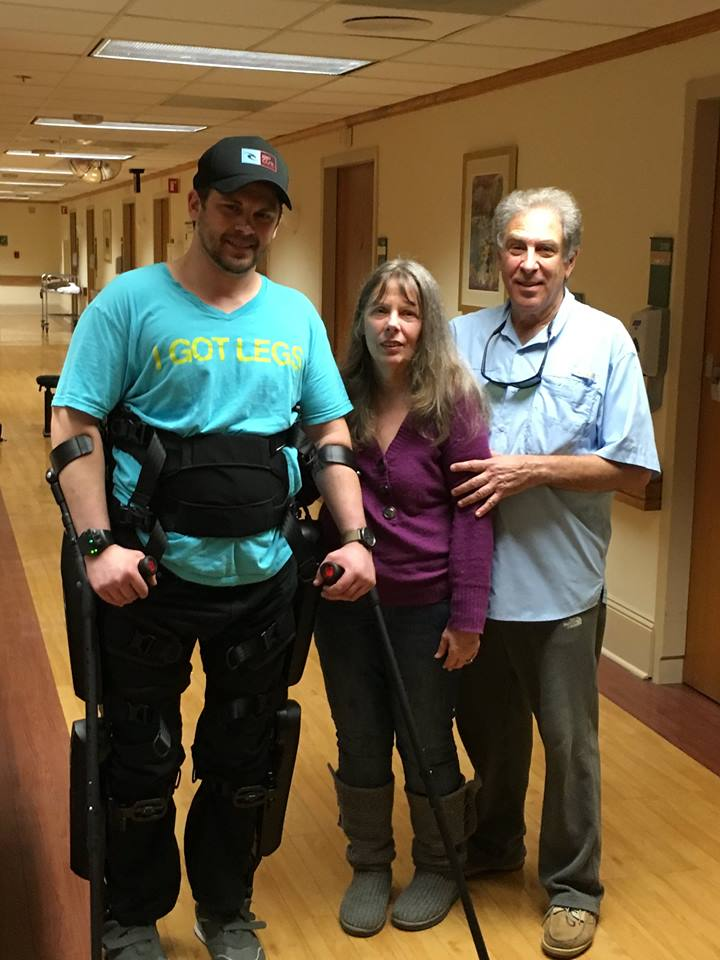 Adam Gorlitsky in the ReWalk Personal 6.0 exoskeleton. Credit: Adam Gorlitsky