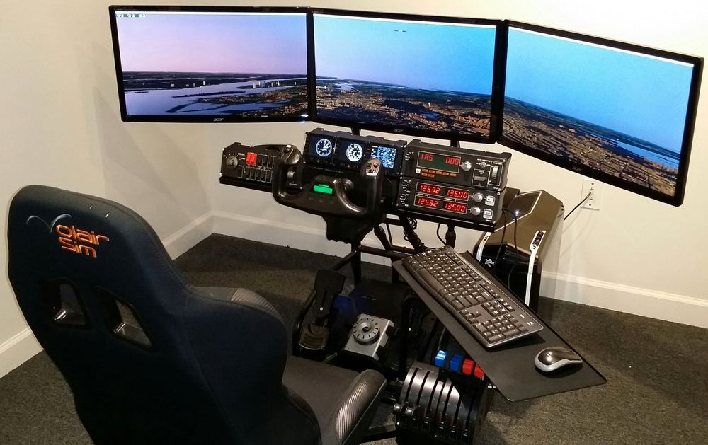 Elite X-Plane General Aviation Dream Package flight simulator system Credit: Xforce PC