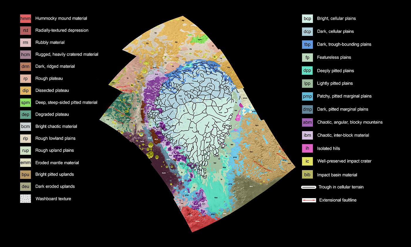 Pluto terrain. Image credit: NASA