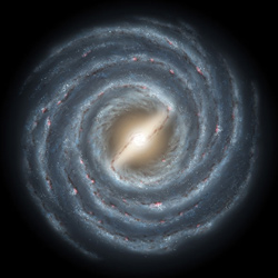 Artistic rendering of the Milky Way. Credit: NASA