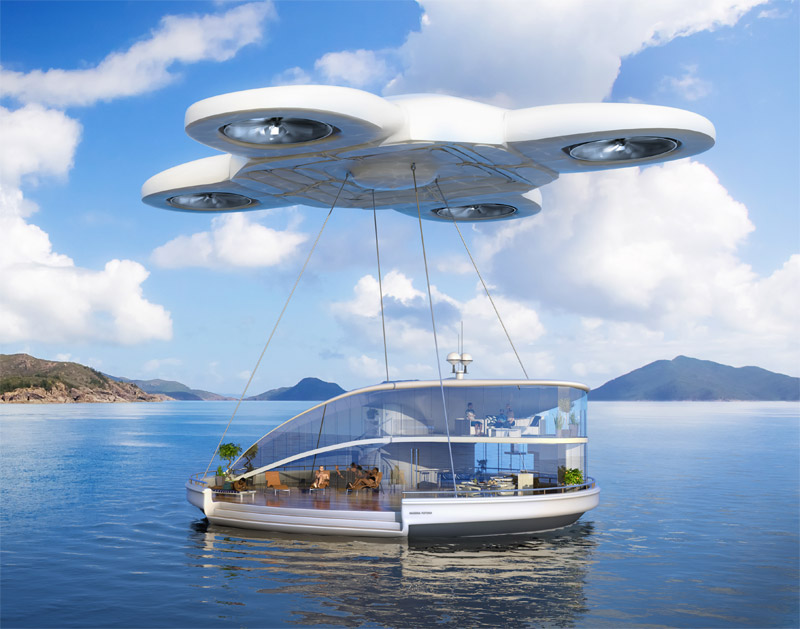 A drone flying house. Image credit: Taylor Herring/Samsung