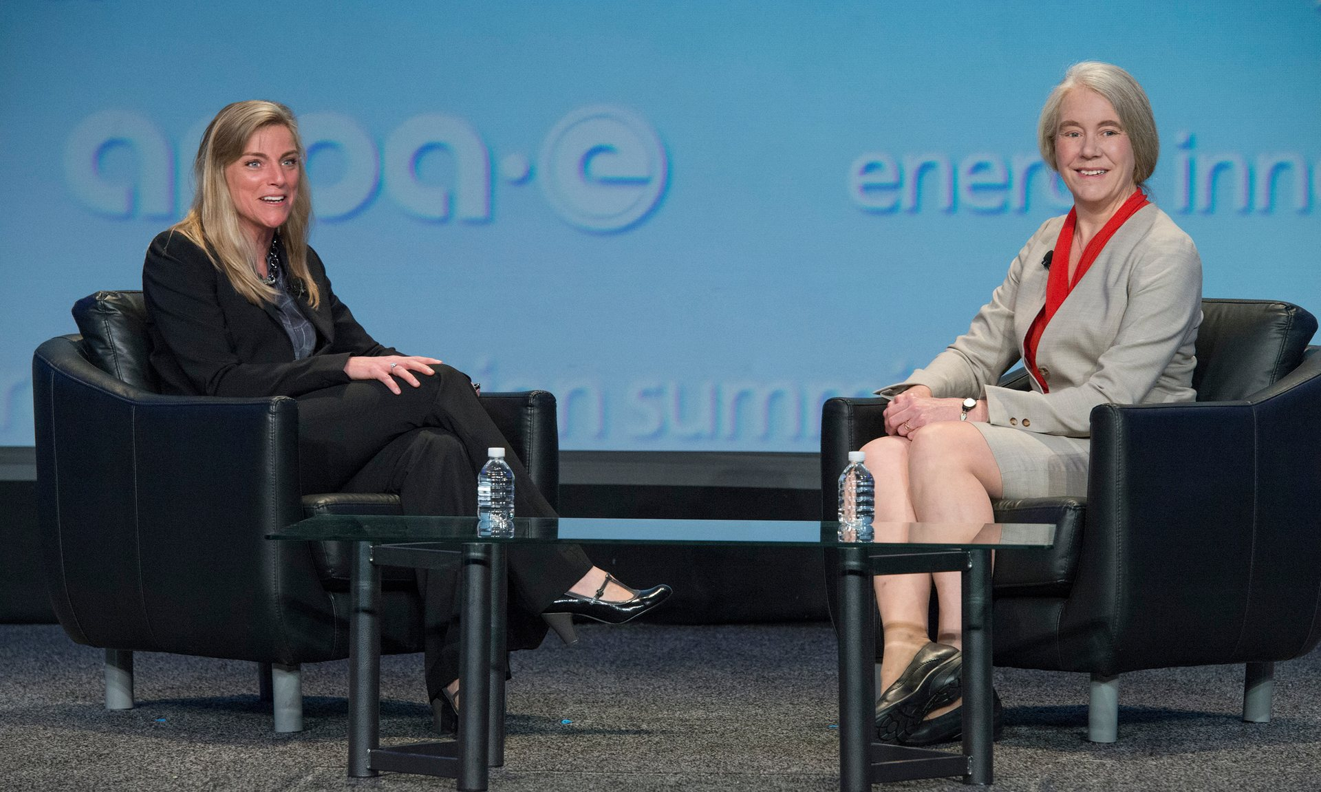 Dr. Ellen Williams (right), Arpa-E director: 'We want power to be easy.' Photograph: ARPA-E