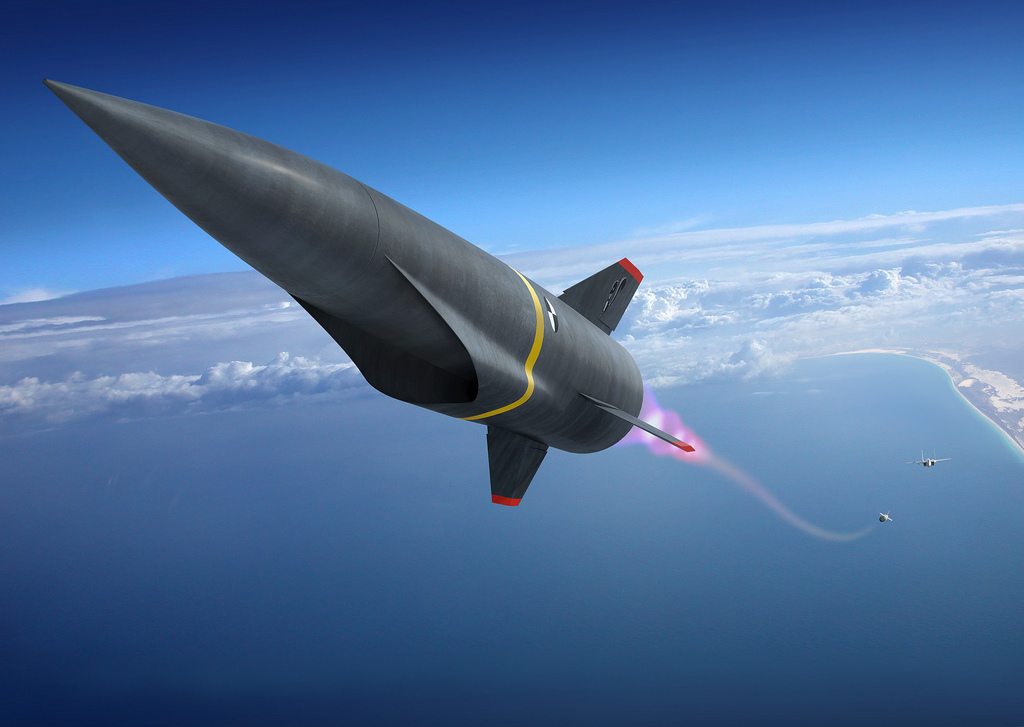 Rendering of a hypersonic missile. Credit: Lockheed Martin