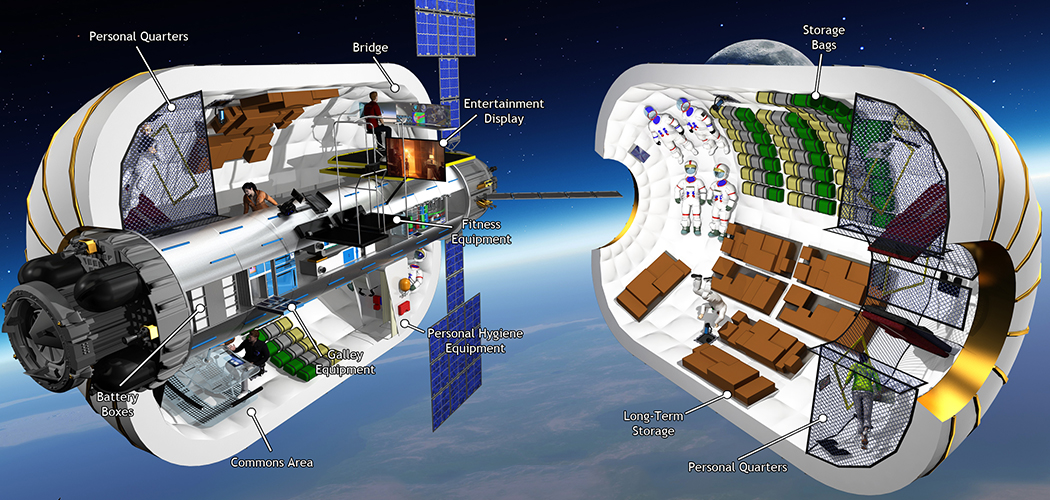 Bigelow Aerospace's inflatable habitat. Image Credit: www.bigelowaerospace.com
