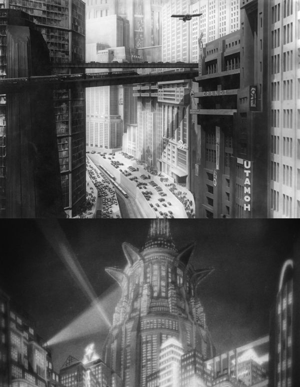 Images of a futuristic city from Metropolis (1927). Credit: tinypic.com/The Blog of Big Ideas