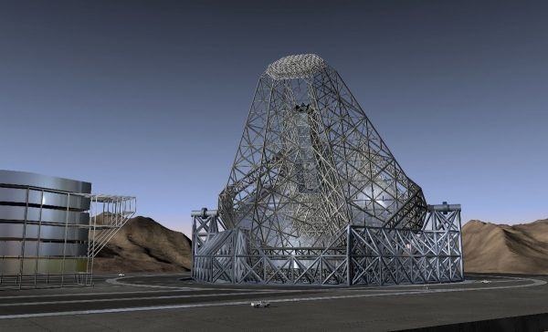 The projected OWL (Overwhelmingly Large) 100-meter telescope. Credit: eso.org.
