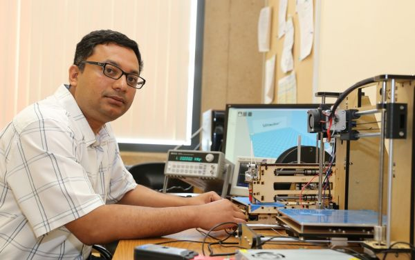 Mohammed al Faruque, an electrical engineer and computer scientist at UC Irvine, and lead author of the new study examining the security risks posed by 3-D printing. Credit: Debbie Morales / UCI Samueli School of Engineering