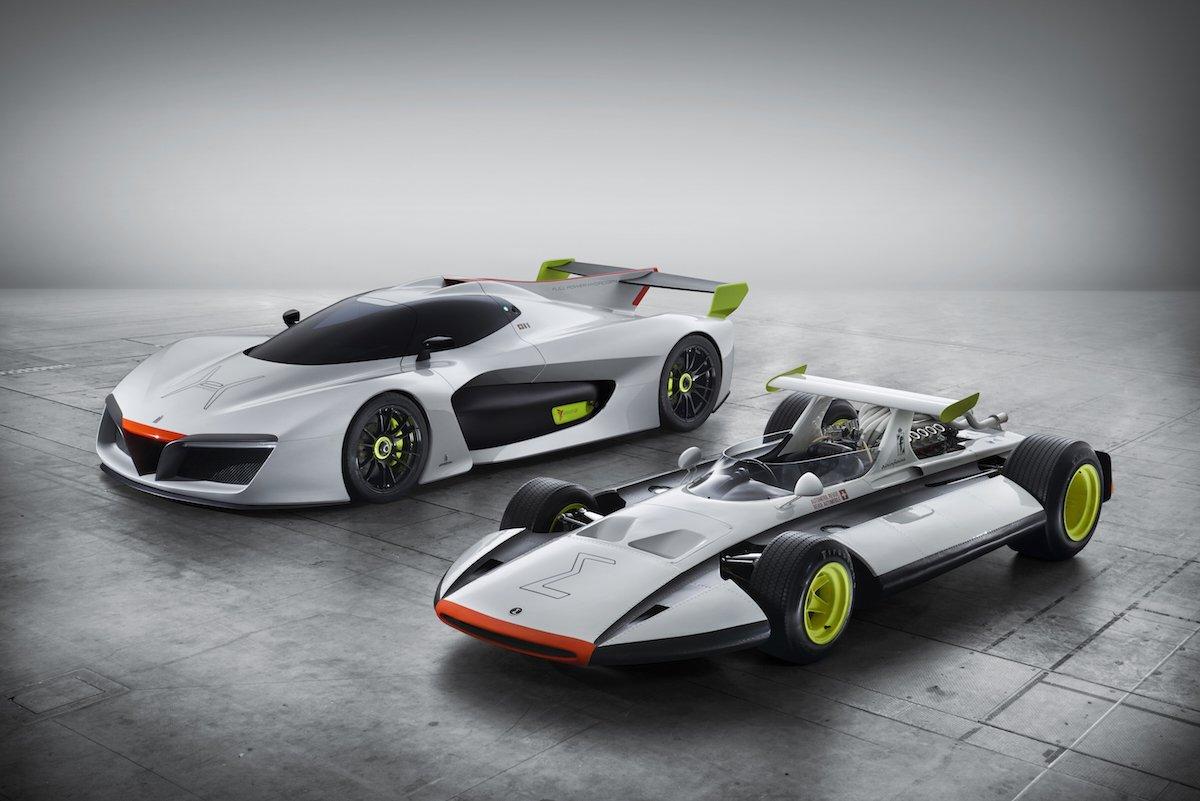 The H2 next to its predecessor, the Sigma Grand Prix.