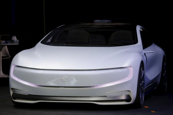 The all-electric concept car LeSEE, unveiled April 20 in Beijing, China. Credit: REUTERS/Damir Sagolj