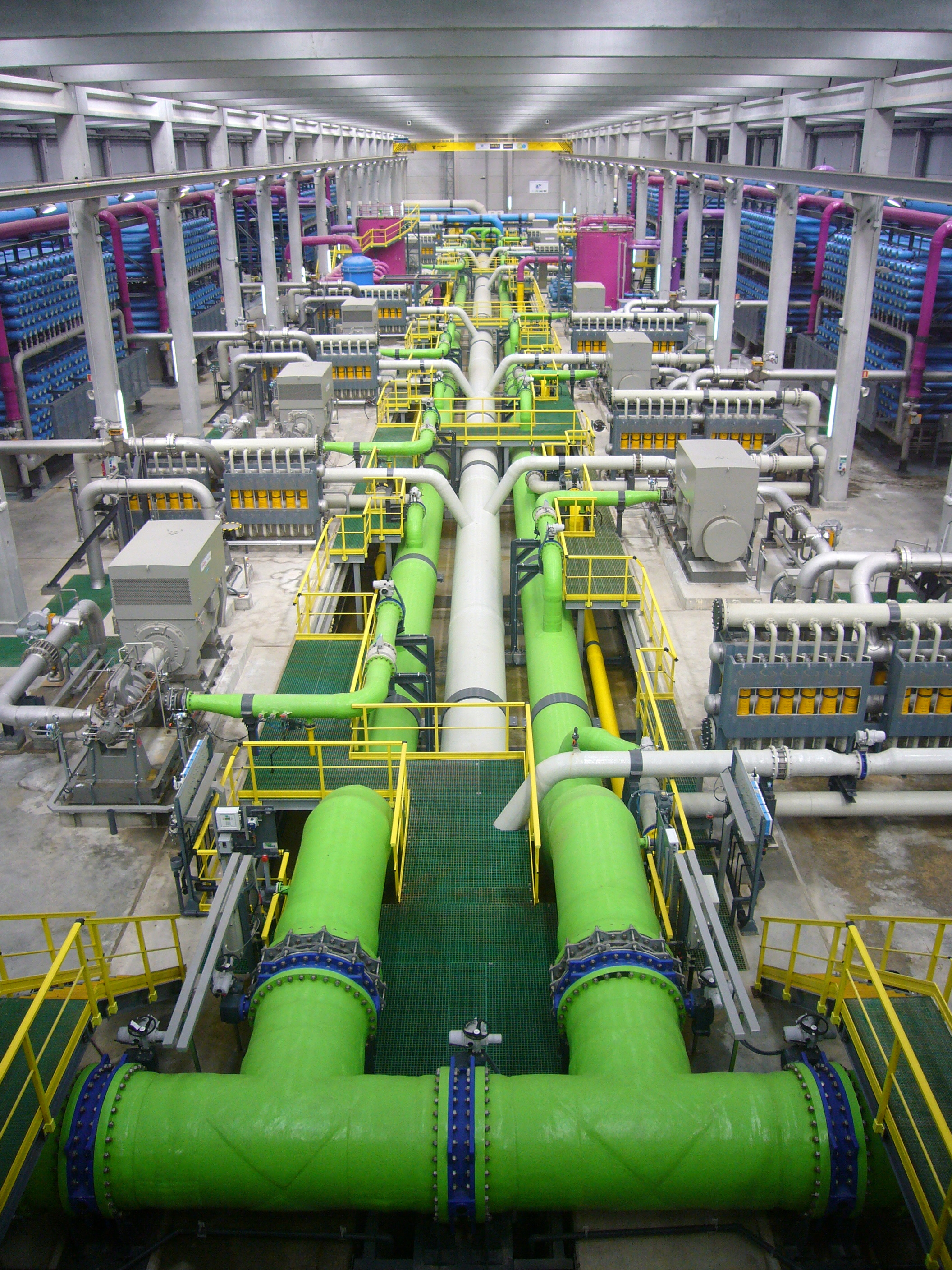 Reverse osmosis desalination plant in Barcelona, Spain. james Grellie/WikiMedia
