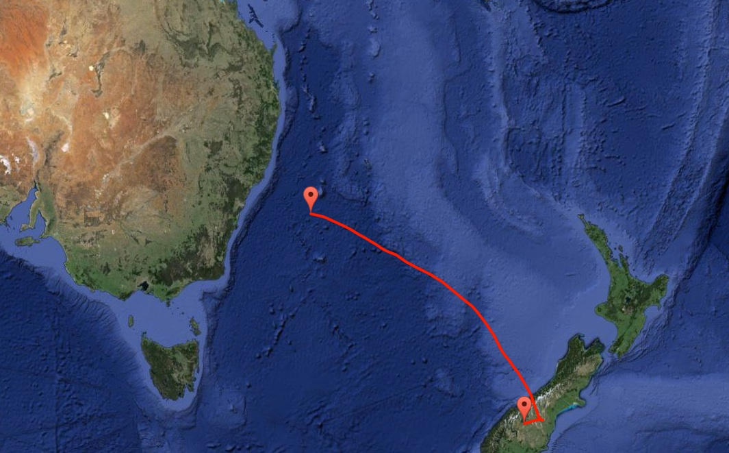 NASA's super pressure balloon will transit southeastern Australia before heading south above the Indian Ocean and eventually eastward. Credit: NASA