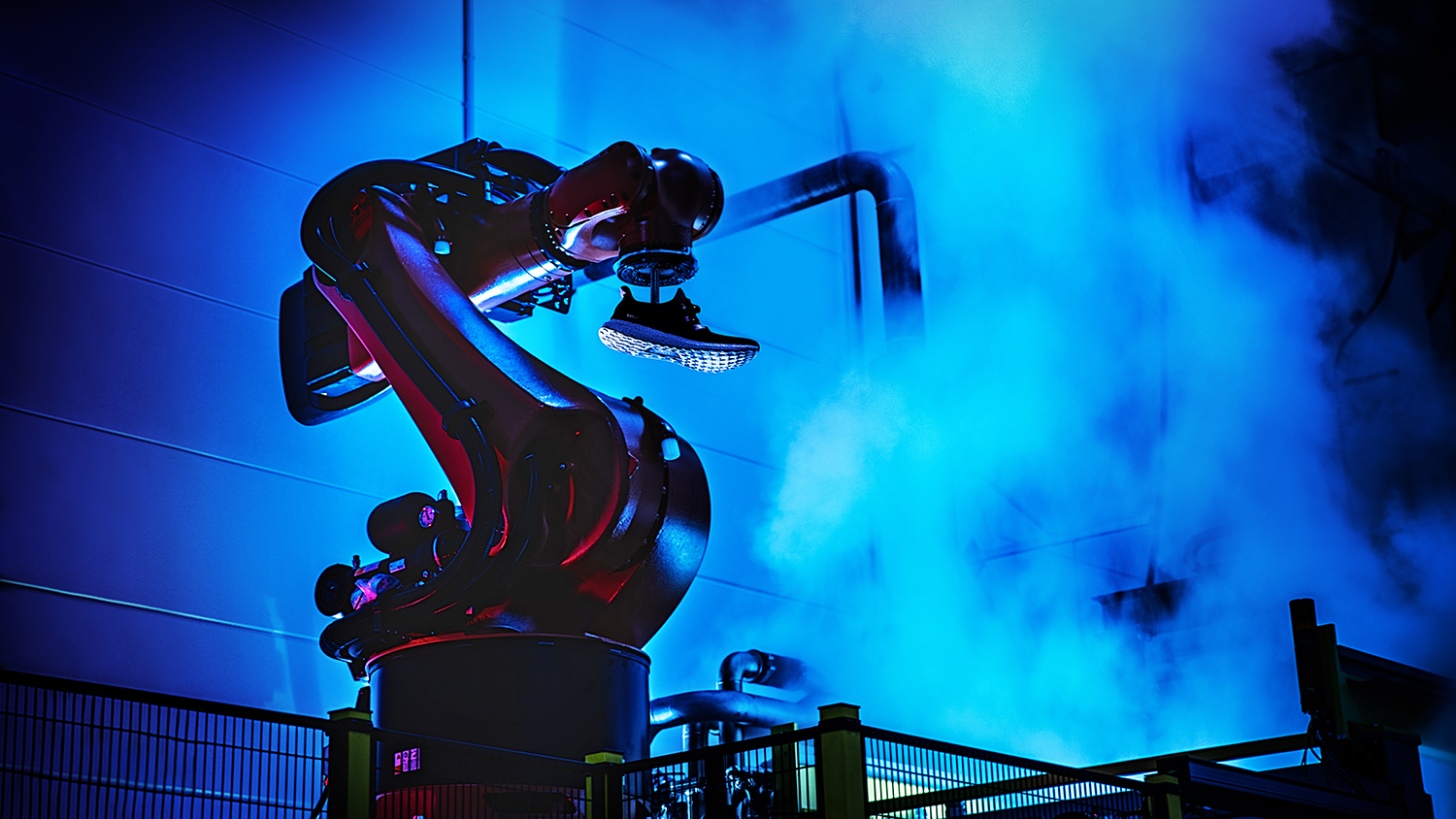 The Speedfactory will be using robots to mass produce Adidas products. Credit: Adidas