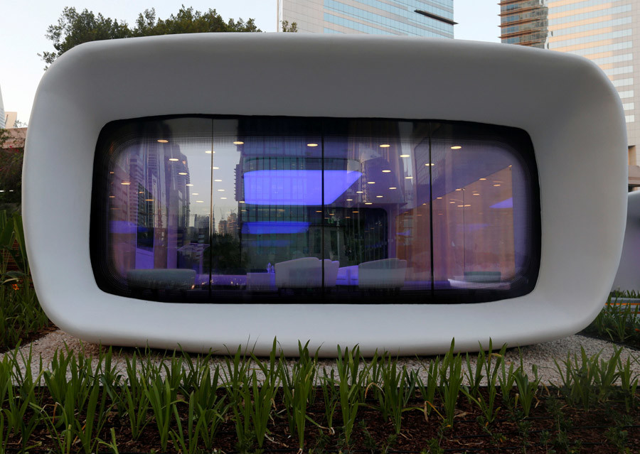 Dubai's new 3D-printed office. Credit: Ahmed Jadallah/Reuters