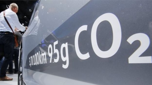 The credibility of Volkswagen's emissions labels has suffered significantly. AP.