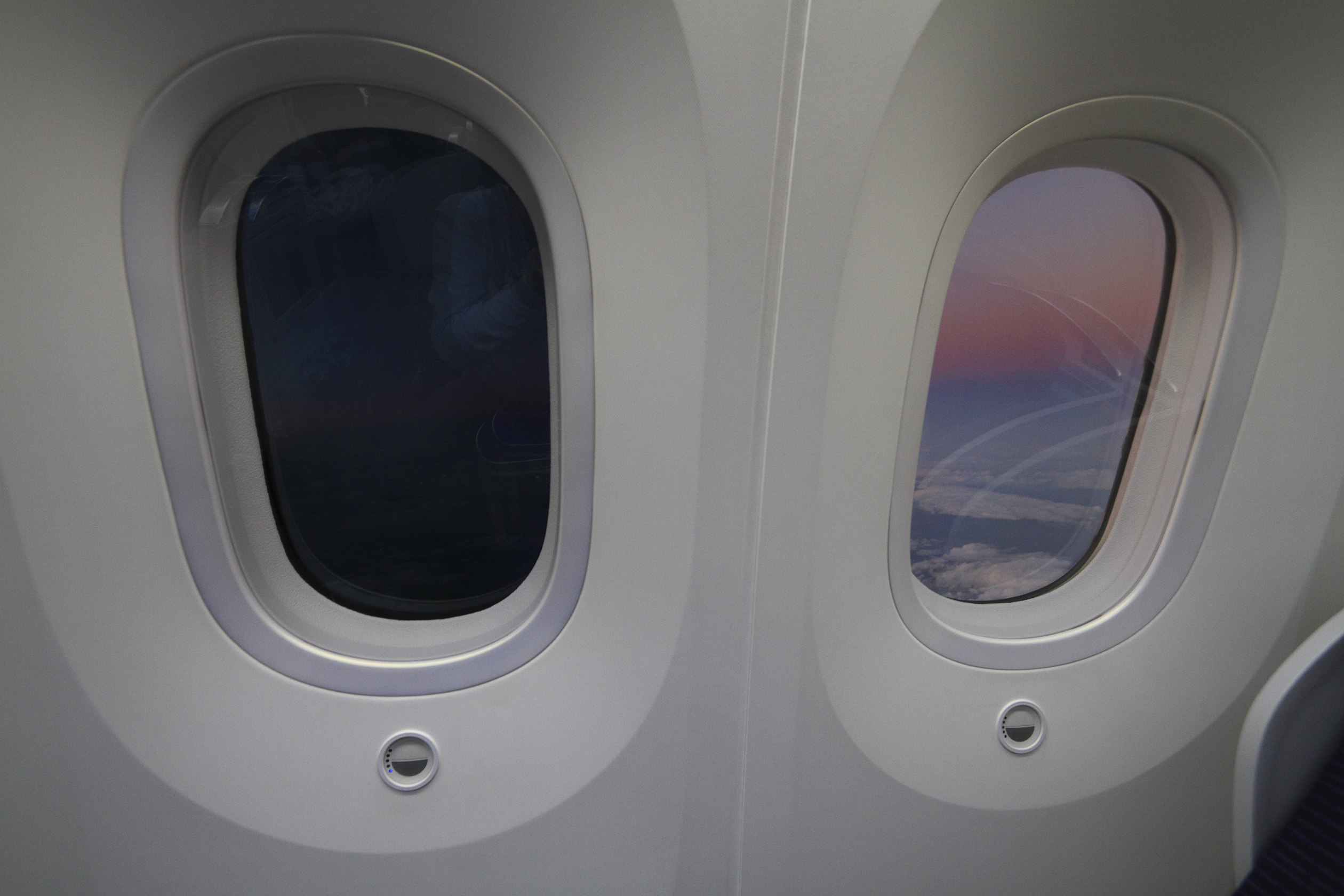 Electrochromic materials are used to produce the windows of Boeing 787.