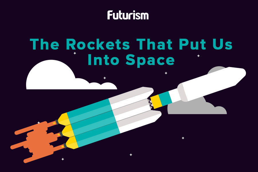 The Rockets That Put Us Into Space [INFOGRAPHIC]