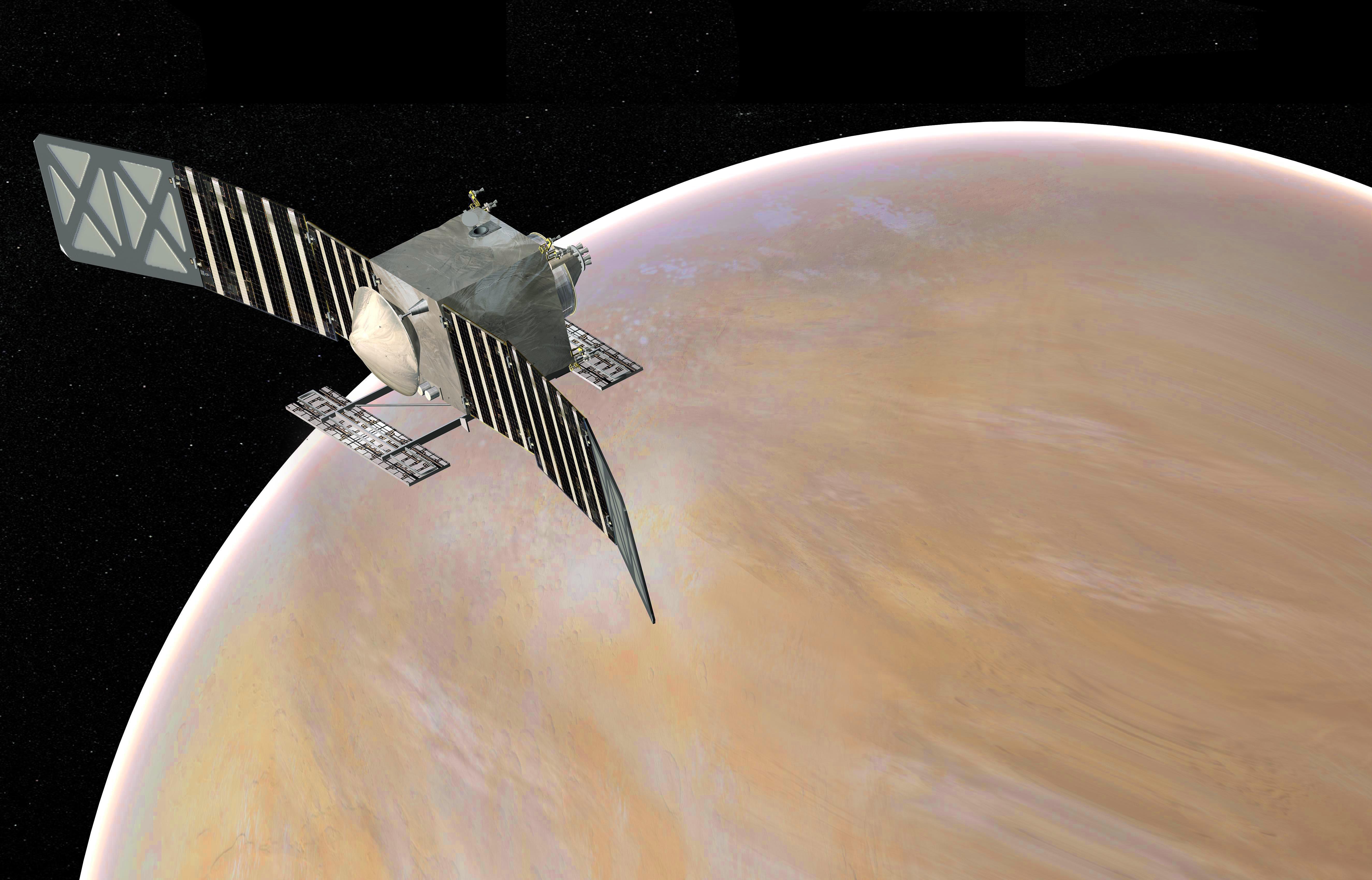 Artist's concept of VERITAS. Source: NASA/JPL-Caltech