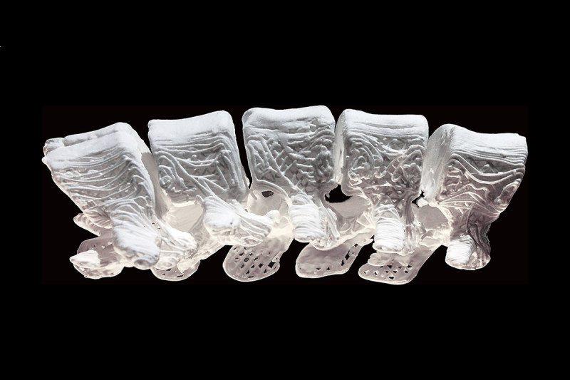 The 3D-printed hyperelastic bone. Credits: Shah, et al.
