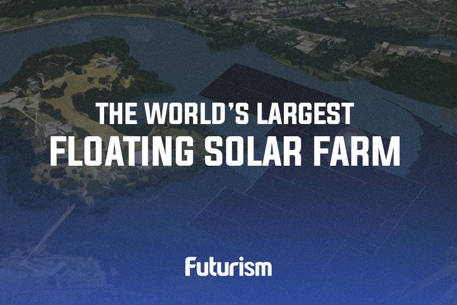 The World's Largest Floating Solar Farm [INFOGRAPHIC]