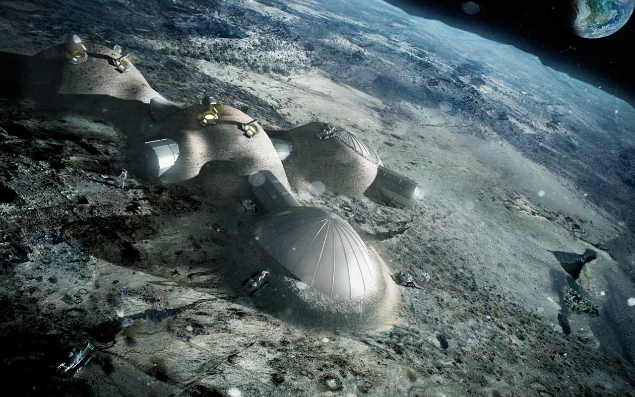 The ESA recently elaborated its plan to create a Moon base by the 2030s. Credit: ESA/Foster + Partners