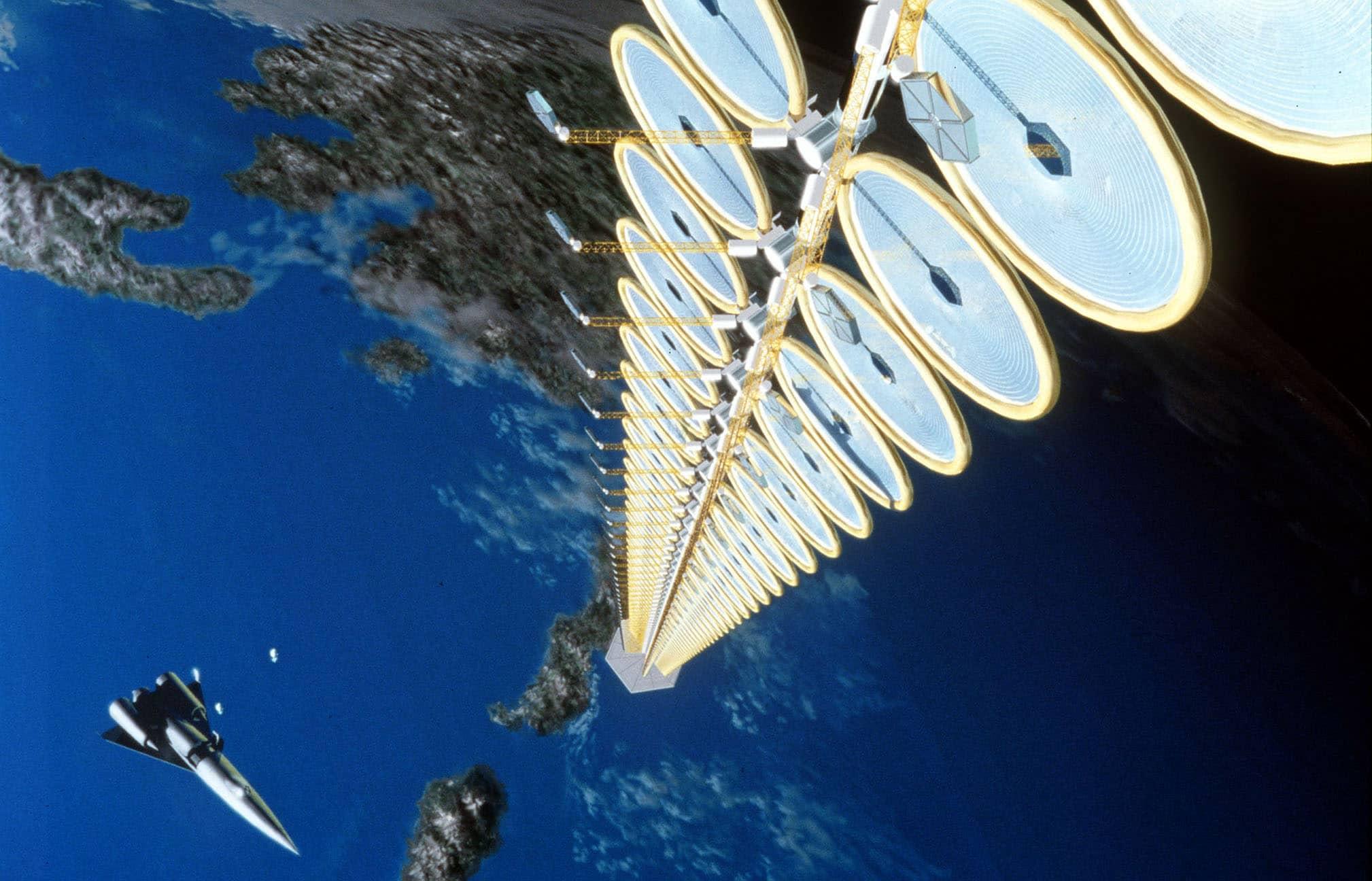 Solar space elevator