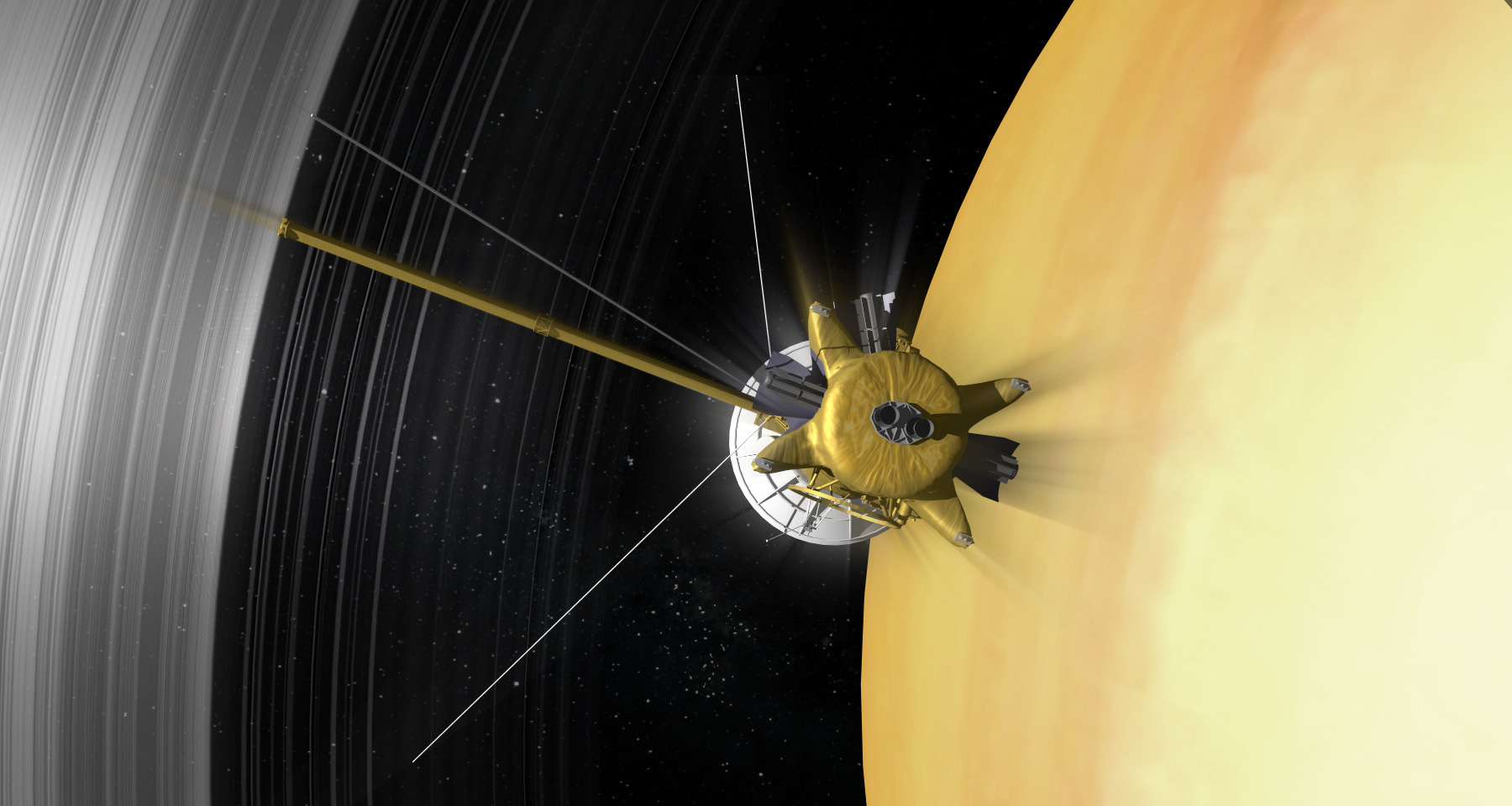 Cassini's final phase. NASA/JPL-Caltech.