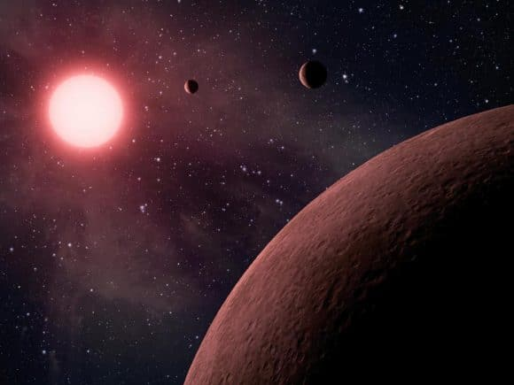 Artist rendition of a similar system. NASA/JPL