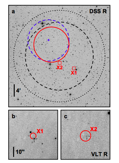 FRB 131104 and its gamma-ray. Credits: DeLaunay et al.
