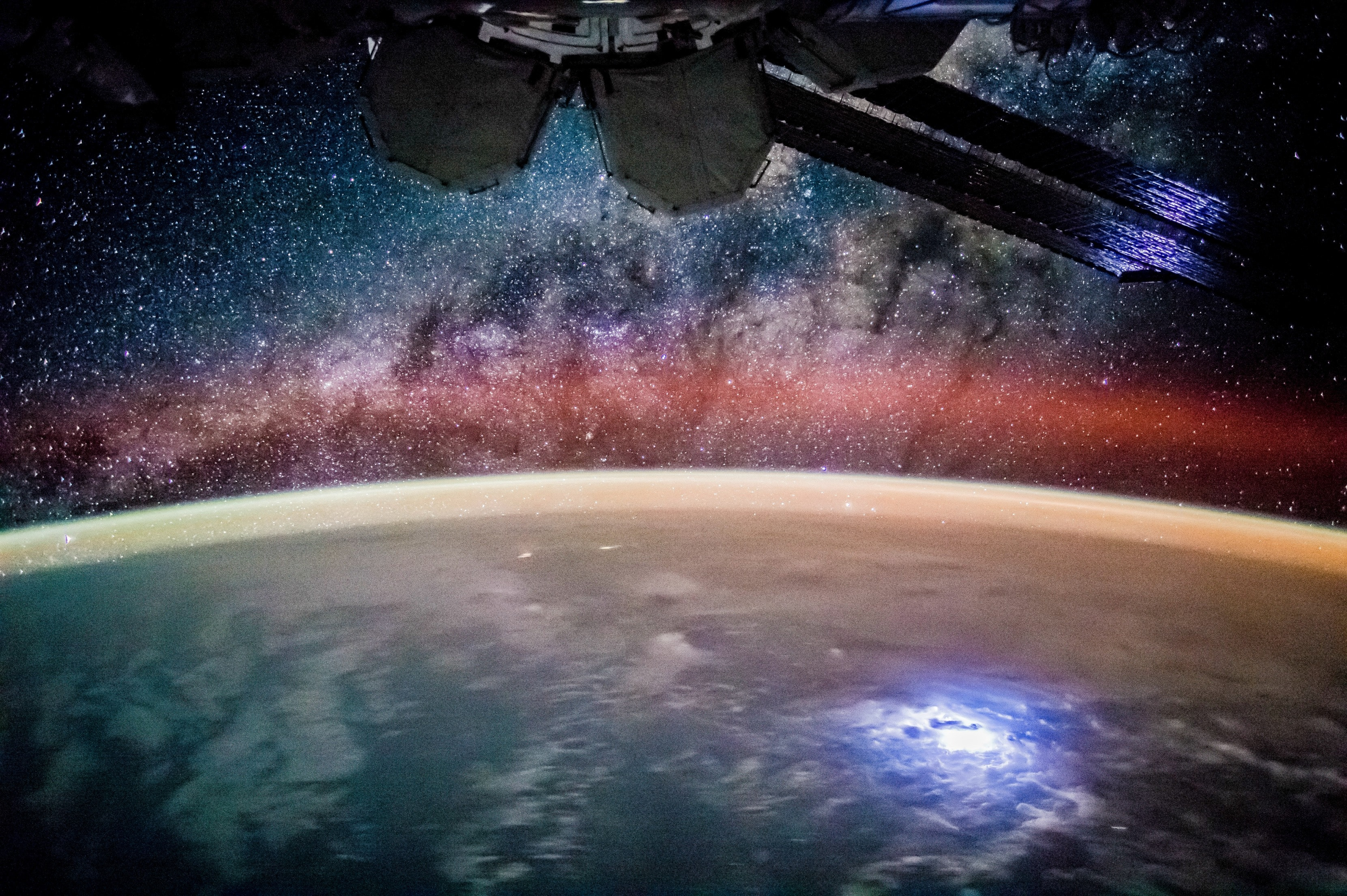 nasa international space station 4k video iss