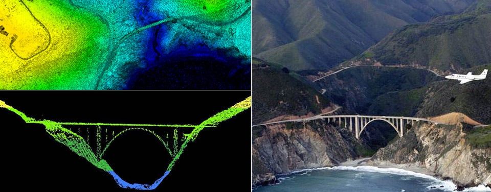 Lidar used for mapping the Bixby Bridge in Big Sur, California. Credit: National Ocean Service