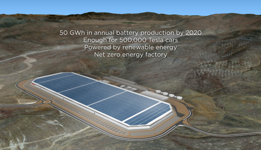 A rendering of the Gigafactory in Nevada. Credit: Tesla