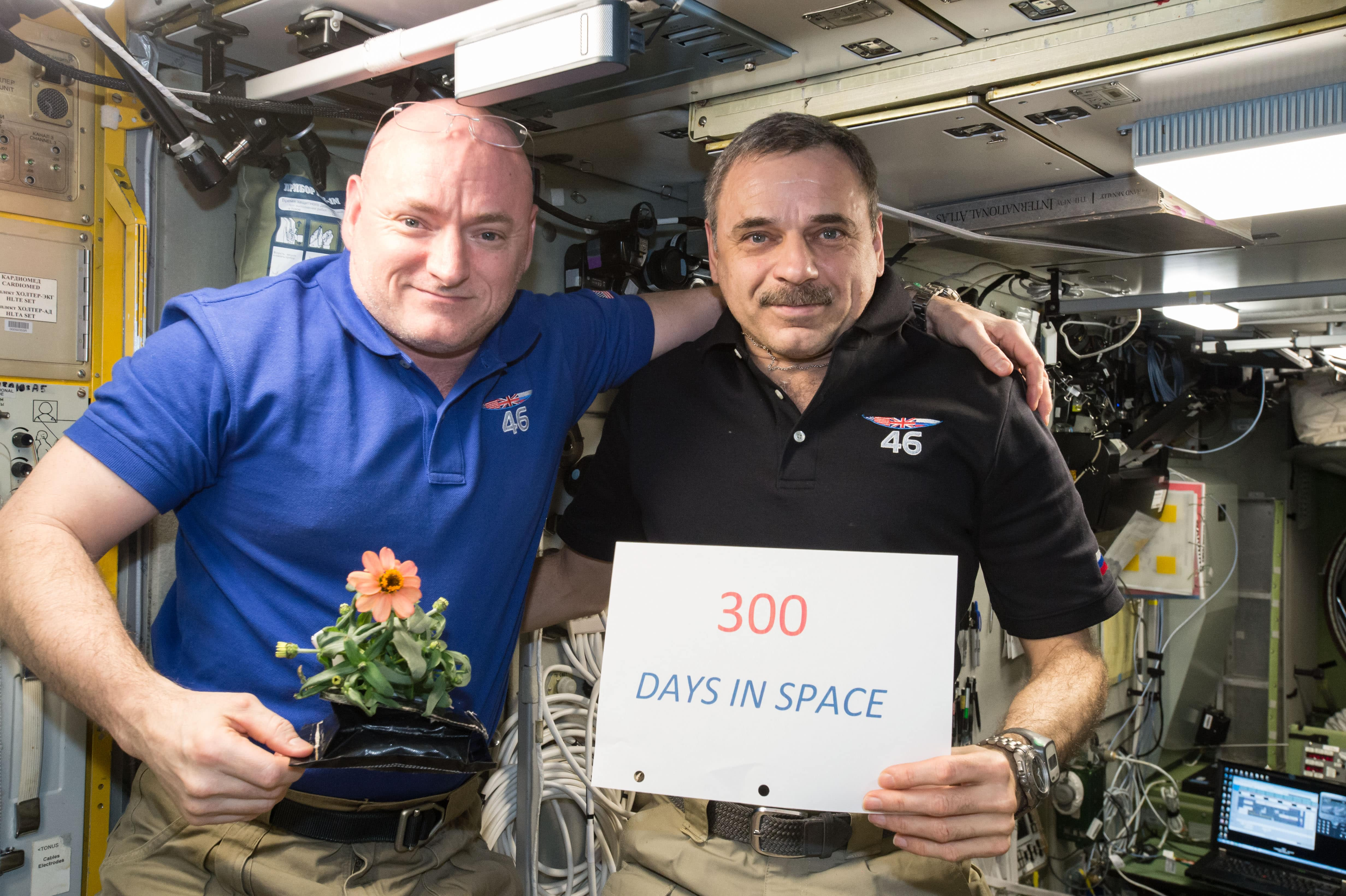 Kelly and Kornienko spent nearly a year in space. NASA.