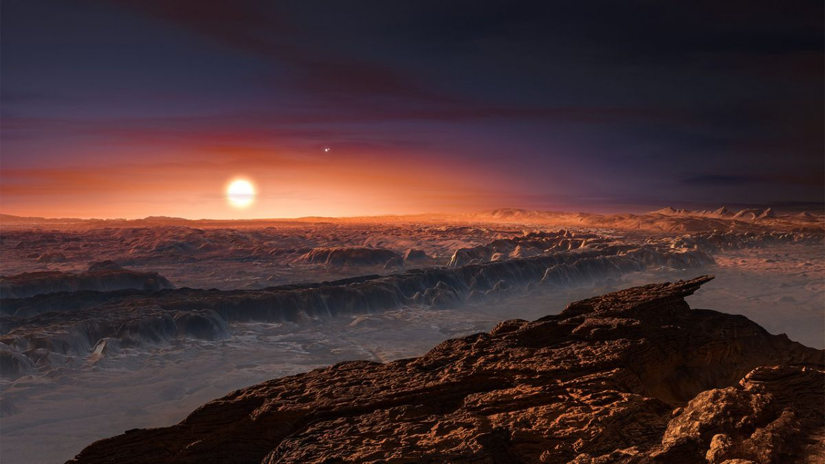 An artist's depiction of Proxima b's surface. Credits: ESO/M. Kornmesser