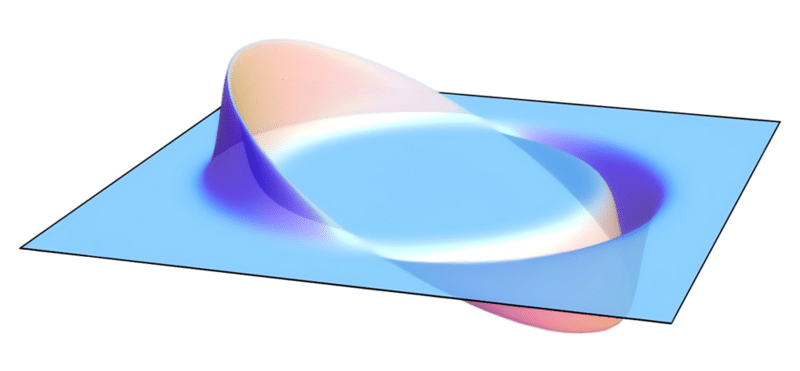 Visualization of a warp field, according to the Alcubierre Drive. Credit: AllenMcC
