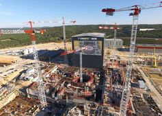 Under construction: the ITER research tokamak in France. ITER