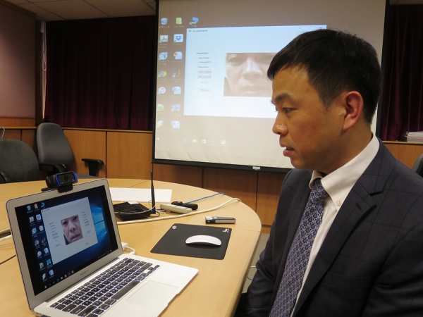 The lip-reading software in action. Image credit: HKBU