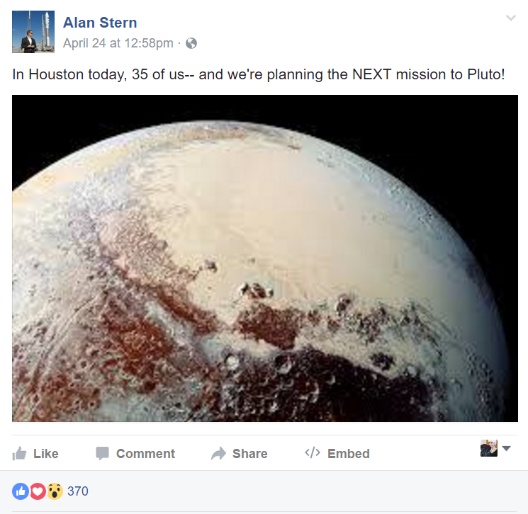 Alan Stern: We Are Returning to Pluto