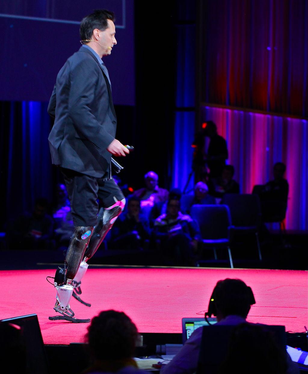 Hugh Herr at his Ted Talk in 2014. Image Credit: Steve Jurvetson, Wikimedia