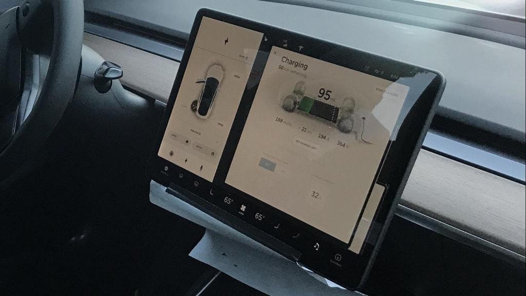 Dashboard display of the Model 3. Image Credit: You You Xue @youyouxue
