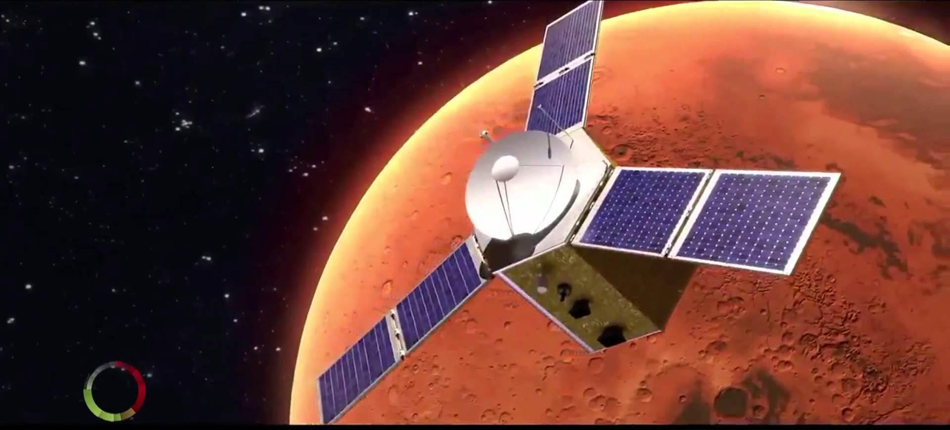 "The ""Al Amal"" Probe. Image credit: UAE Space Agency"